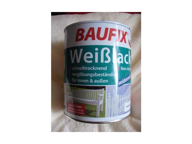 baufix wei lack preisvergleich testbericht und g nstige angebote bei. Black Bedroom Furniture Sets. Home Design Ideas