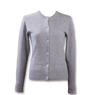 Damen-strickjacke-grau