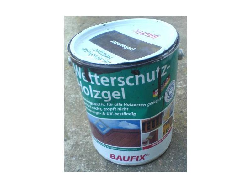 Baufix Wetterschutz Holzgel Verpackung Vorderseite Von Dummie1980