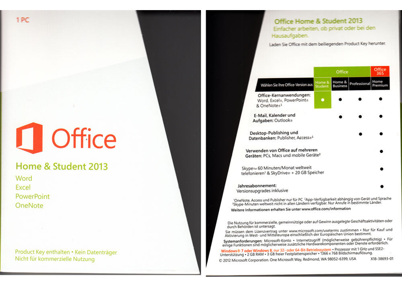 ms office home and student 2013